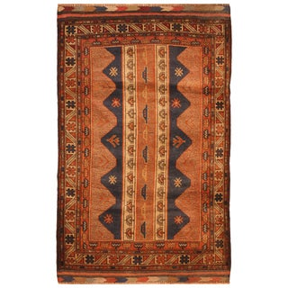 Handmade One-of-a-Kind Balouchi Wool Rug (Afghanistan) - 2'10 x 4'8