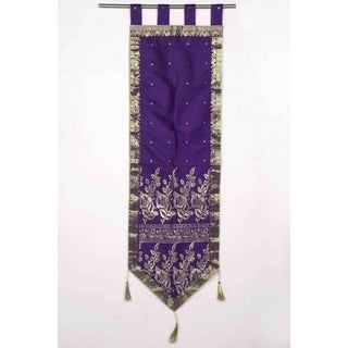 Purple - Handmade Wall hanging Wall decor Tapestry with Tassels