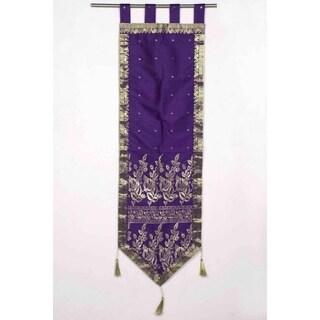 Purple - Handmade Wall hanging Wall decor Tapestry with Tassels (Option: Purple)
