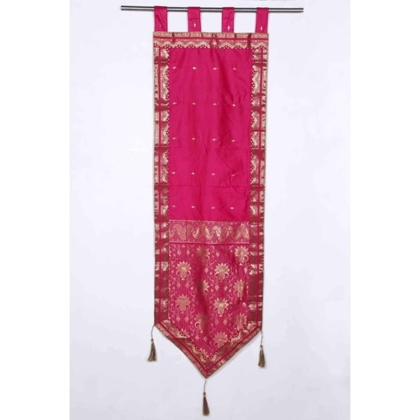 Handmade Pink Tapestry with Tassels (India)