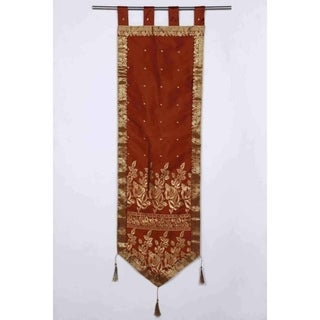 Handmade Brown Tapestry with Tassels (India)