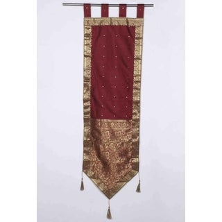 Maroon - Handmade Wall hanging Wall decor Tapestry with Tassels