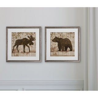 Moose & Bear Crossing -2 Piece Set