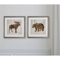Pine Forest Moose & Bear -2 Piece Set