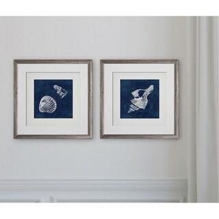 Cyanotype Shells I -2 Piece Set