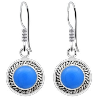 Orchid Jewelry 2.00 Carat Blue Chelcedony Earrings in Sterling Silver