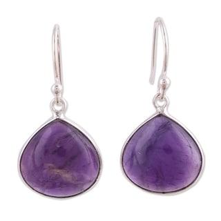 Link to Handmade Sterling Silver Dancing Soul Amethyst Earrings (India) Similar Items in Earrings