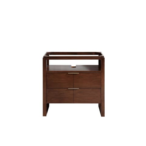 Avanity Giselle 33 in. Vanity Only in Natural Walnut Finish