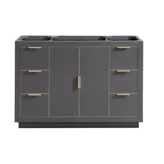 Avanity Austen 48 in. Vanity Only in Twilight Gray with Matte Gold or Brushed Silver Trim