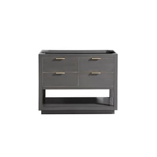 Avanity Allie 42 in. Vanity Only in Twilight Gray with Matte Gold or Brushed Silver Trim