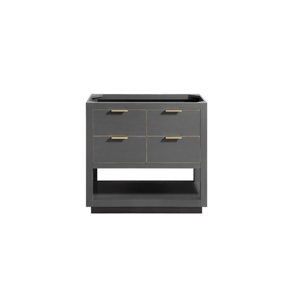 Avanity Allie 36 in. Vanity Only in Twilight Gray with Matte Gold or Silver Trim