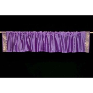 Lavender - Rod Pocket Top It Off handmade Sari Valance - Pair