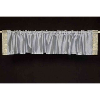 Gray - Rod Pocket Top It Off handmade Sari Valance - Pair