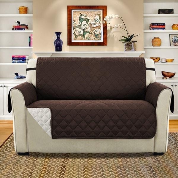 Sofa Slipcover No Sew: Shop H.Versailtex Loveseat Non-Slip Furniture Sofa
