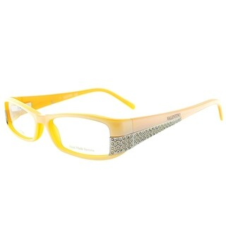 Valentino Rectangle V5599 VRF Women Yellow Crystal Frame Eyeglasses