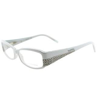 Valentino Oval V5657 FGX Women White Crystal Frame Eyeglasses