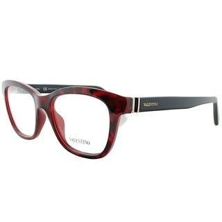 Valentino Rectangle V2700 649 Women Red Havana Frame Eyeglasses
