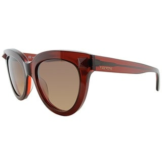 Valentino Cat-Eye V722S 210 Women Brown Frame Brown Gradient Lens Sunglasses