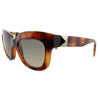 Valentino Cat-Eye V693S 725 Women Blonde Havana Frame Brown Gradient Lens Sunglasses