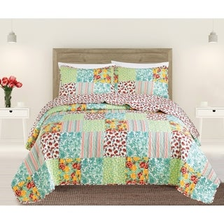 Scarlett Collection 3-piece Printed Quilt Set by Home Fashion Designs