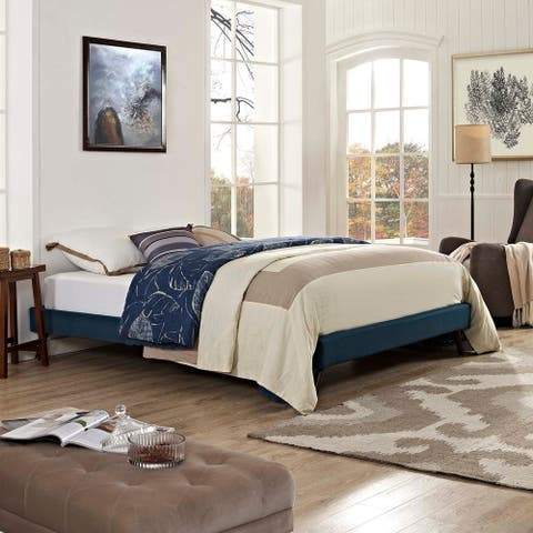 Loryn King Bed Frame with Round Splayed Legs