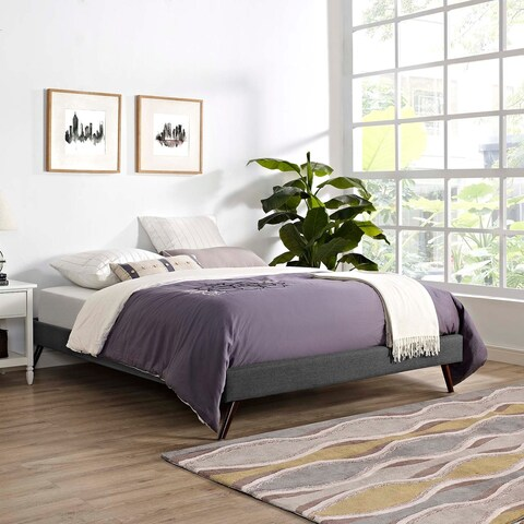 Loryn Queen Bed Frame with Round Splayed Legs