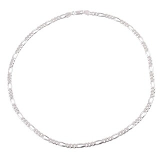 Handmade Men's Sterling Silver 'Modern Accent' Necklace (India)