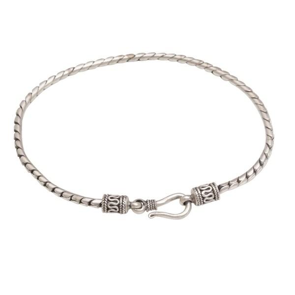 Handmade Sterling Silver 'Regal Shine' Bracelet (Indonesia). Opens flyout.
