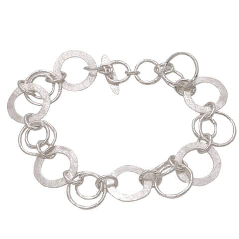 Handmade Sterling Silver Circle of Hope Bracelet (Indonesia)