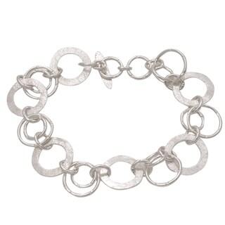 Handmade Sterling Silver Circle of Hope Bracelet (Indonesia)