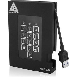 Apricorn Aegis Padlock Fortress 2 TB External Hard Drive - Portable
