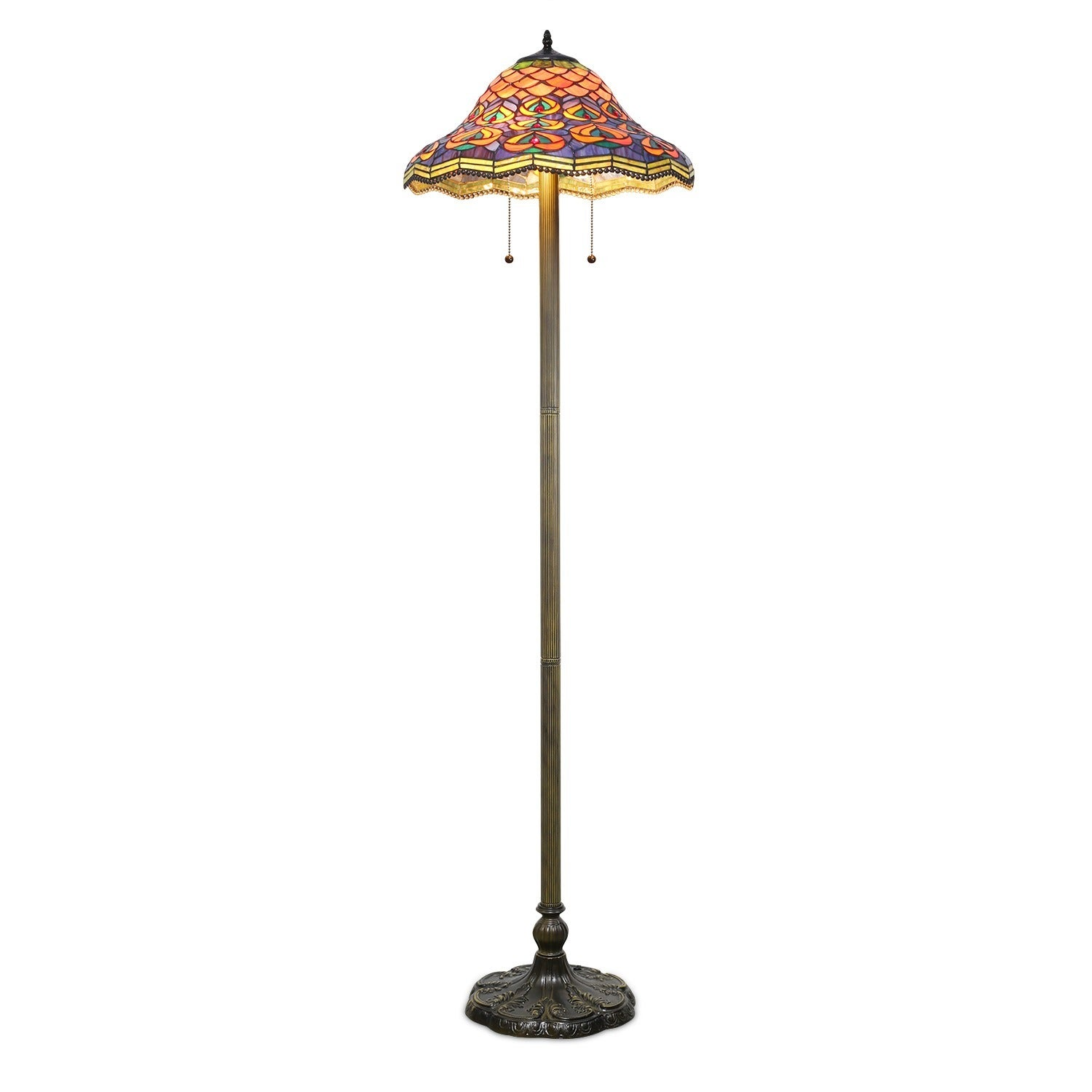 Tiffany & CO Peacock Floor Lamp, Blue (Copper)
