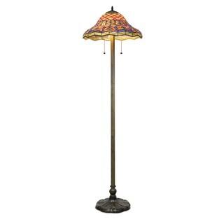Tiffany-style Peacock Floor Lamp