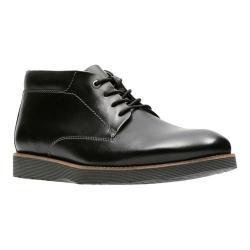 Men's Clarks Folcroft Mid Chukka Boot Black Leather