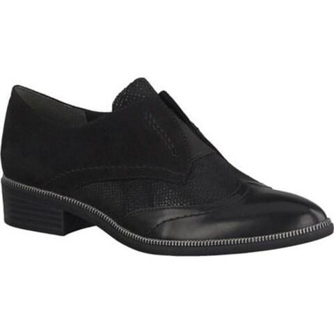 Women's Tamaris Phanie Cap Toe Slip On Black/Black Combination