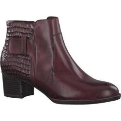 Women's Tamaris Akaria Ankle Boot Bordeaux/Structure Combination
