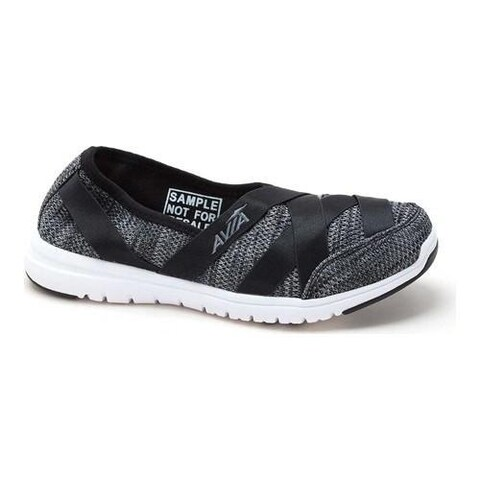 Women's Avia Avi-Aura Slip-On Shoe Black/Iron Grey