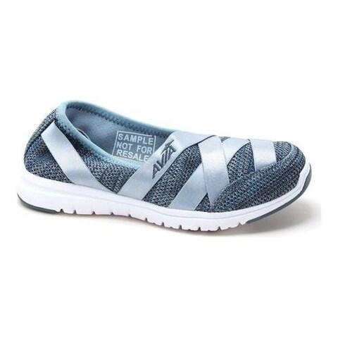 Women's Avia Avi-Aura Slip-On Shoe Saber Blue/Lead Grey/Cool Mist Grey