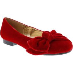 Women's Bellini Bustle Bow Flat Red Velvet