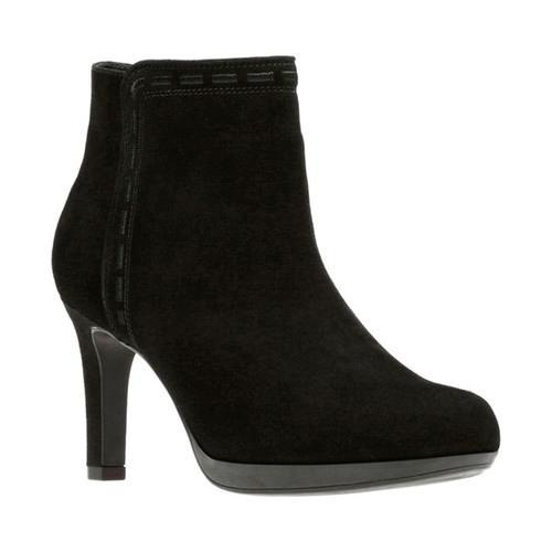 9ae8555e70 Shop Women's Clarks Adriel Sadie Ankle Bootie Black Suede - Free Shipping  Today - Overstock - 17417333