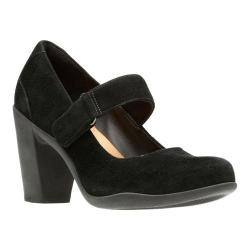 Women's Clarks Adya Clara Mary Jane Black Suede