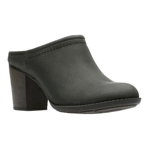 Women's Clarks Enfield Sandy Mule Black Leather (US Women...