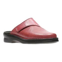 Women's Clarks Patty Tayna Clog Red Full Grain Leather