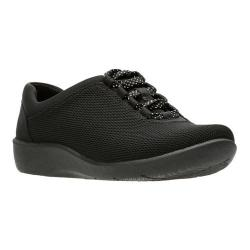 Women's Clarks Sillian Pine Sneaker Black Mesh/Black Bottom