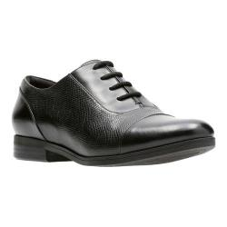 Women's Clarks Tilmont Ivy Oxford Black Full Grain Leather