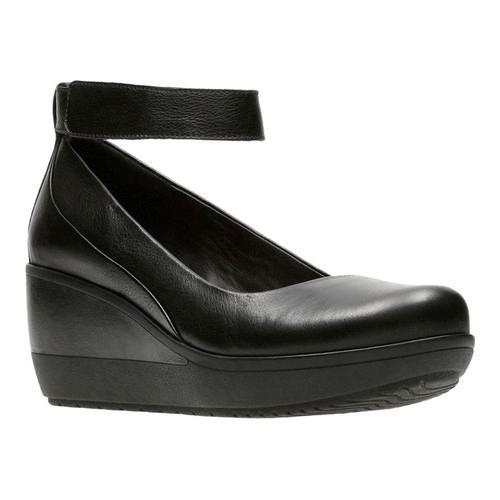 d2b04012eed Shop Women s Clarks Wynnmere Fox Wedge Black Full Grain Leather - Free  Shipping Today - Overstock - 17417422