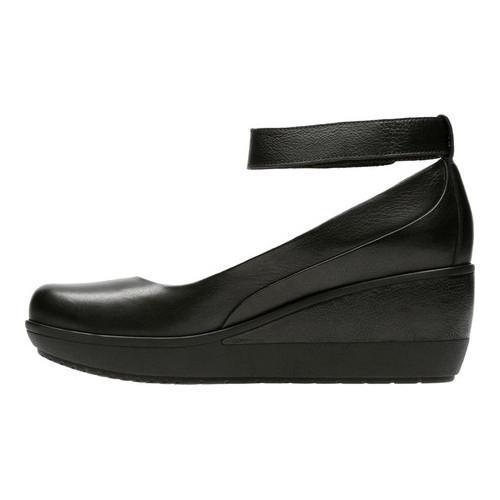 82ee3b6976a ... Thumbnail Women  x27 s Clarks Wynnmere Fox Wedge Black Full Grain  Leather
