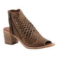 Women's Diba True Close Doors Caged Sandal Cognac Leather