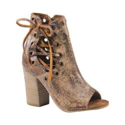 Women's Diba True Ivy Vine Open Toe Bootie Tan Vintage Leather (2 options available)