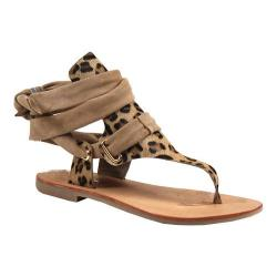 Women's Diba True Take A Tour Thong Sandal Leopard Leather